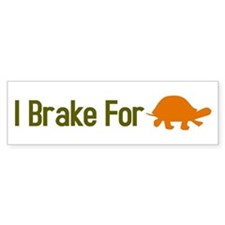I Brake for Turtles Bumper Bumper Sticker