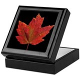Fall Maple Leaf Keepsake Box