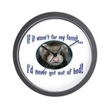 Never Get Out of Bed Ferret Wall Clock
