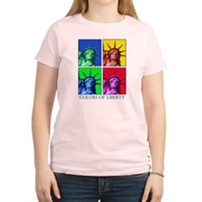 Colors of Liberty Women's Pink T-Shirt
