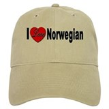 I Love Norwegian Baseball Cap