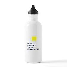 Sunblock Reminder Water Bottle