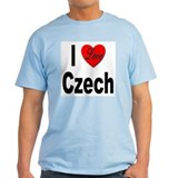 I Love Czech (Front) Ash Grey T-Shirt
