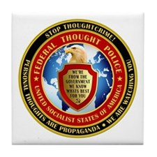 Federal Thought Police Tile Coaster
