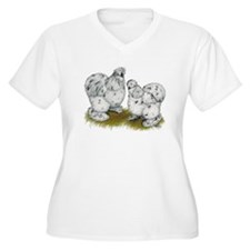 Silkies Splash Chickens T-Shirt