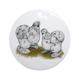 Silkies Splash Chickens Ornament (Round)
