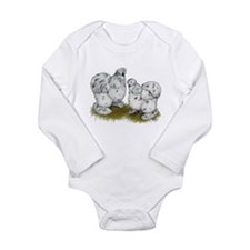 Silkies Splash Chickens Long Sleeve Infant Bodysui
