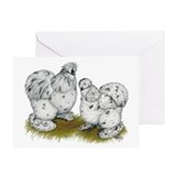 Silkies Splash Chickens Greeting Card