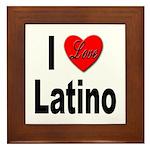 I Love Latino Framed Tile