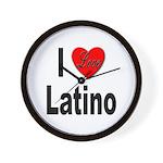 I Love Latino Wall Clock