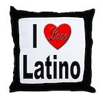 I Love Latino Throw Pillow