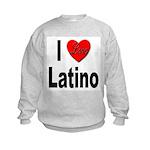 I Love Latino (Front) Kids Sweatshirt