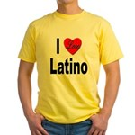 I Love Latino Yellow T-Shirt