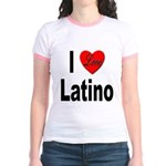 I Love Latino (Front) Jr. Ringer T-Shirt