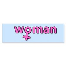 Pretty in Pink - Woman Symbol Bumper Sticker