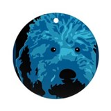 Labradoodle - color 3 Ornament (Round)