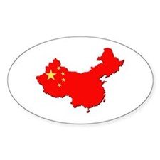 China Flag Map Decal