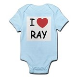 I heart ray Infant Bodysuit