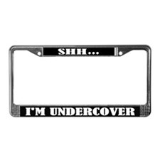 Funny Undercover Detective License Frame