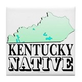 Kentucky native Tile Coaster