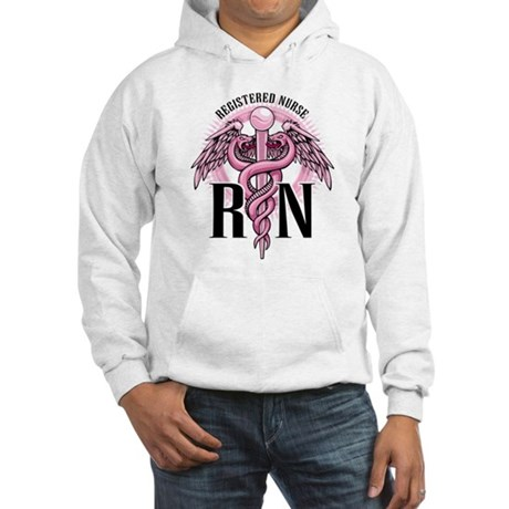 RN Caduceus Pink Hooded Sweatshirt