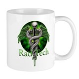 Rad Tech Caduceus Green Small Mug