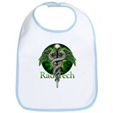 Rad Tech Caduceus Green Bib