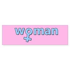Baby Blue - Woman Symbol Bumper Sticker