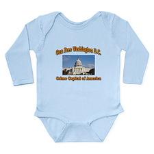 Gun Free Washington D C Long Sleeve Infant Bodysui