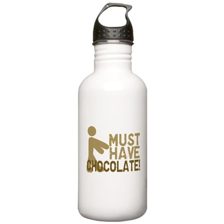 Must Have CHOCOLATE! Zombie Stainless Water Bottle