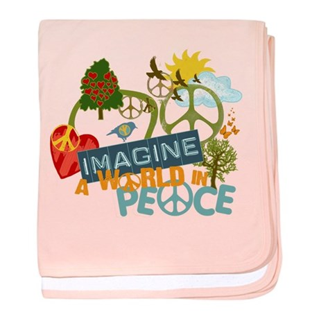 Rainbow Peace Abtract Art Infant Blanket