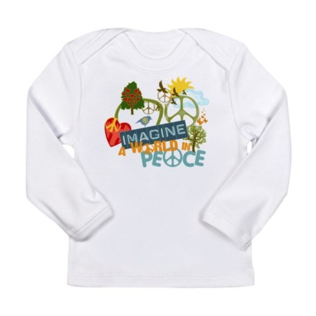 Rainbow Peace Abtract Art Long Sleeve Infant T-Shi