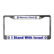 Stand With Israel Always License Plate Frame