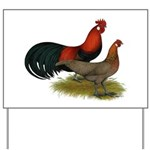 Phoenix BB Red Chickens Yard Sign