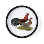 Phoenix BB Red Chickens Wall Clock