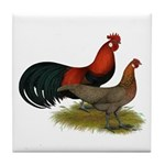 Phoenix BB Red Chickens Tile Coaster