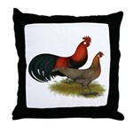 Phoenix BB Red Chickens Throw Pillow