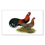 Phoenix BB Red Chickens Sticker (Rectangle 50 pk)