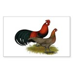 Phoenix BB Red Chickens Sticker (Rectangle 10 pk)