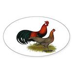 Phoenix BB Red Chickens Sticker (Oval 10 pk)