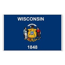 Wisconsin Flag Rectangle Decal