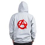 Anarchy-Red Zip Hoodie