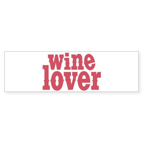 Wine Lover Sticker (Bumper)