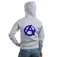 Anarchy-Blue Women's Zip Hoodie