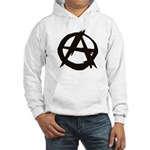 Anarchy-Blk-Whte Hooded Sweatshirt