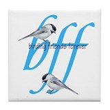 birding friends forever Tile Coaster
