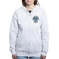 LPN Caduceus Blue Zip Hoody