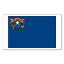 Nevada State Flag Rectangle Decal