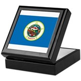 Minnesota State Flag Keepsake Box