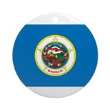Minnesota State Flag Ornament (Round)